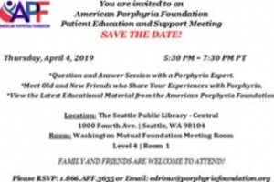 Patient Education and Support Meeting - Seattle