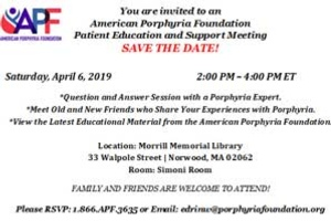 Patient Education and Support Meeting - Boston