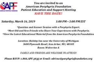 Patient Education and Support Meeting - Ann Arbor
